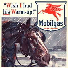 1940 Mobil Oil and Gas print ad Old Dobbin the Horse  Mobil by Chemical Corporation (UK) Ltd www.chemcorp.co.uk