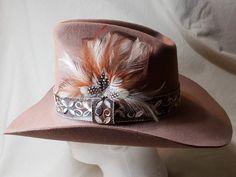 dfc3d8ad748 Vintage Miller Bros. Brown Men s Classic Cowboy Western Feather Wool Felt  Hat Size 7 3 8 59cm