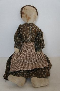 Hand Sewn Linen Rag Doll, 1880, Country & Shaker Antiques, Harvard, MA