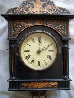 Lorenz Furtwangler & Sons German Wall Clock Victorian