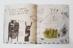 Illustrated book by Arina Makhova, via Behance Artist Journal, Artist Sketchbook, Art Journal Pages, Art Journals, Graphic Design Illustration, Book Illustration, Collages, Sketchbook Inspiration, Moleskine