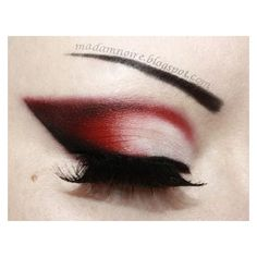 Red Eyeshadow ❤ liked on Polyvore featuring beauty products, makeup, eye makeup and eyeshadow