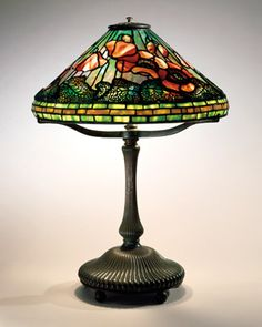 Tiffany Poppy Reading Lamp. Circa 1905.   Photo: The Neustadt Collection of Tiffany Glass, New York City