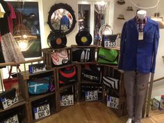 All of these amazing bags! #upcycling #bags #licenseplates #Berlin