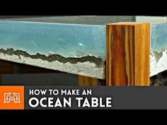 DIY Tisch mit Ozeanplatte - nautische Optik für dein Wohnzimmer