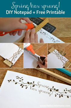 Follow these easy step-by-step directions to make your own custom DIY Notepad   Hello Little Home for The Pinning Mama