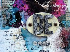Lindy's Embossed Crackle Technique Embossing Powder, Project Yourself, Vibrant, Stamp, Create, Canvas, Unique, Projects, Mixed Media