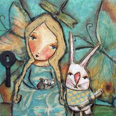 Alice and the Rabbit, by pbsartstudio