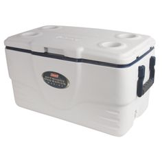 Get the ultimate in long-term cold retention while you're out on the water when you bring a Coleman® 36 Quart Offshore Pro Series™ Marine Cooler. Ultimate Xtreme® technology uses extra thick insulation in the wall and lid to keep your items cold for up to 5 days. Large enough to hold 49 cans, you'll have plenty of space to store refreshments or your catch for you and your fishing buddies. Built to withstand the extra demands of a marine environment, this cooler's UVGuard™ material...