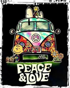 Snoopy - peace and love
