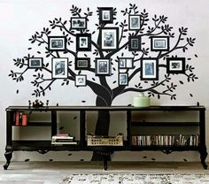 Ideas-That-Will-Inspire-You/ family tree wall decor, family tree decal, tre Family Tree Wall Decor, Family Tree Photo, Family Wall, Tree Wall Art, Family Trees, Family Photos, 3d Home, Flower Wall Decor, Frames On Wall
