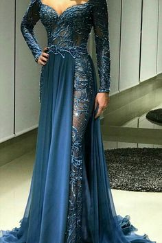 Long Sleeve Evening Wear Dresses and Formal Ball Gowns by Darius – My Wedding Dream Elegant Dresses, Pretty Dresses, Formal Dresses, Bride Dresses, Bridesmaid Dresses, Long Sleeve Evening Gowns, Mode Glamour, Beautiful Gowns, Gorgeous Dress