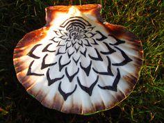 Pintado a mano mar shell hadas obras de arte por Jabashop en Etsy