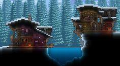 Terraria House Design, Terraria House Ideas, Terraria Tips, Cube Games, Best Titles, Biomes, Winter House, Life Is Good, Building