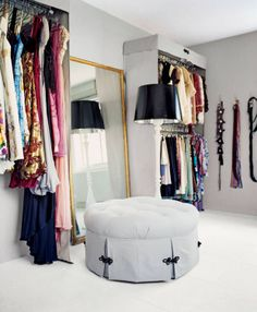 Turn a spare bedroom into a closet. Olivia Chantecaille at Home.