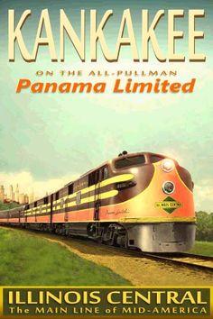 Kankakee travel poster for ICRR