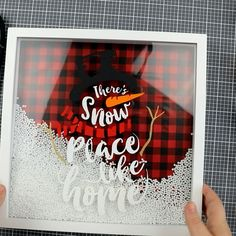 diy videos Snow Place Like Home Shadow Box- cute craft for christmas winter time! DIY project to make. Easy Christmas Decorations, Christmas Crafts To Make, Diy Christmas Ornaments, Homemade Christmas, Christmas Projects, Holiday Crafts, Christmas Holidays, Diy Christmas Videos, Christmas Ideas