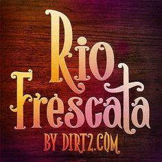 Free Font - Rio Frescata ~ Design Share
