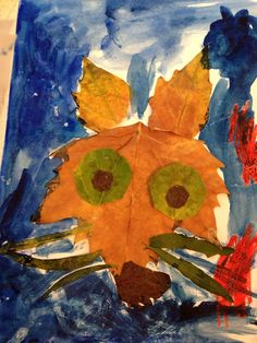 Fox leaf collage by Alba (Aged 4)