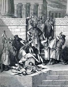 Slaughter of the Sons of Zedekiah before their Father - Gustave Dore