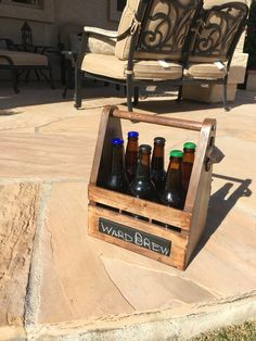 Beer caddy for my buddies that home brew.... It left my workshop empty and came back with porter, pale ale and amber brews!   Now that the kind of return on investment I like!