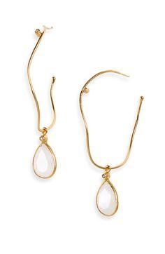 NuNu Designs Semiprecious Drop Hoop Earrings available at Nordstrom