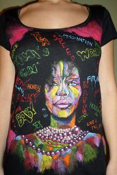Koszulka ręcznie malowana SZAŁ Magdalena Andruszkiewicz. Sklep internetowy ZebrasBOX.pl