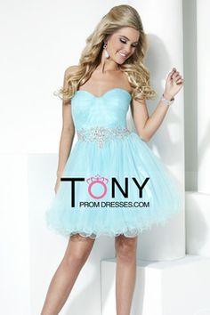 2015 Homecoming Dresses Sweetheart A Line Short With Beading And Ruffles $129.99 TPP4XAY44N - TonyPromDresses.com