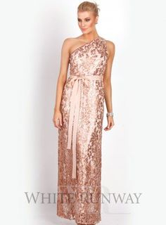 Anna sequinned lace gown