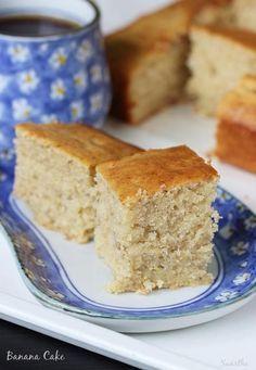Banana cake recipe - How to make easy banana cake recipe (soft
