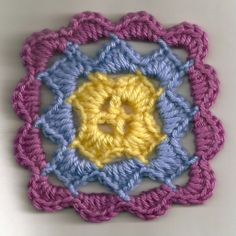 Beginner Crochet Patterns | here s a little coaster i crocheted with some scrap yarn