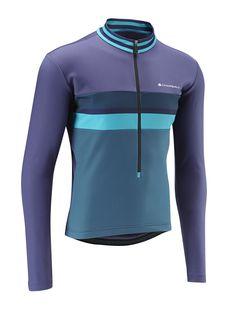 24d45af3c Men s Thermal Jersey - Midnight Blue Petrol Blue - Chapeau! Cycling Wear