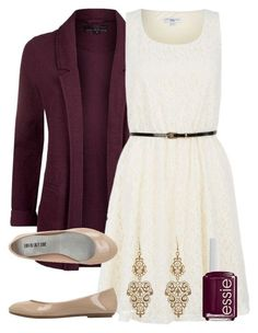 """""""Teacher Outfits on a Teacher's Budget 116"""" by allij28 ❤ liked on Polyvore featuring Essie, women's clothing, women, female, woman, misses and juniors"""