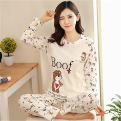 92e59d2768 Home Clothes Women Pyjamas Two Piece 2018 Summer Pijama Plus size ...