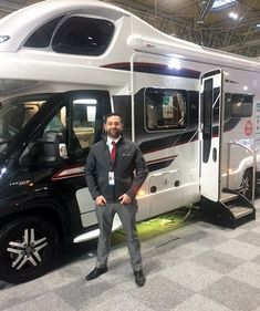 Viscount's Will Lawrence who attended the Swift Group stand at the NEC Birmingham Caravan Camping and Motorhome Show Feb Viscount, Vw Camper, Rv Life, Say Hello, Motorhome, Birmingham, Caravan, Swift, Recreational Vehicles