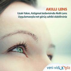 Uzak- Yakın ve astigmat tedavisinde Akıllı Lens(göz içi mercek) ile gözlüklerinize veda edebilirsiniz.