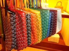 This is my dream, a rainbow of Goyard purses.  When I am rich a famous, I will have at least one of these.