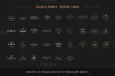Clean & Simple Vintage Logo by Tamavocks   - free file week beginning 2nd May