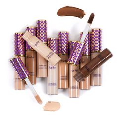 Sculpt and highlight as you mask imperfections with this 2-in-1 full coverage concealer. tarte Shape Tape hydrating, longwearing formula delivers natural, radiant coverage across all skin types so you can instantly brighten and cover acne, dark circles and redness while softening the look of pores and fine lines. Wear it 1-2 shades lighter or darker, and it works as a creamy highlighter or contouring stick with a lightweight, blendable formula.