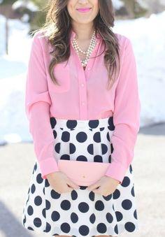 pink, pearls, & polka dots