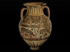 Anfora corinzia -620 a.C -autore sconosciuto -luogo di ritrovamento: Rodi -luogo di conservazione: Walters Art Museum, Baltimora -ceramica a figure nere