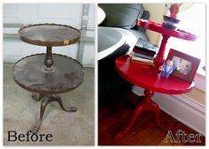 We love to take beat-up pieces and make them beautiful again, using a variety of techniques! You can click on each photo to be directed to that post/tutorial.