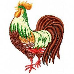 "3 1//4/""H Chicken R Farm Animal Embroidered Iron On Patch Rooster"