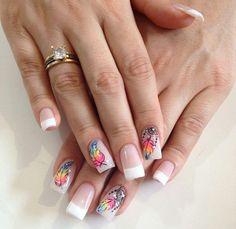 Uñas #increibleycierto Love Nails, Fun Nails, Feet Nail Design, Dream Catcher Nails, Bridal Nail Art, Unicorn Nails, Best Acrylic Nails, Cute Nail Art, Nail Decorations