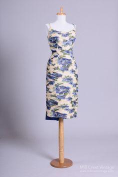 1950 Beaded Vintage Cocktail Dress
