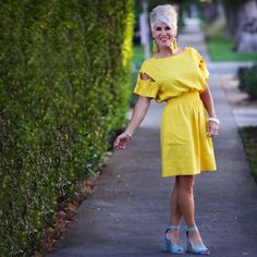 "Shauna on Instagram: ""Wishing you all as HAPPY and CHEERFUL of a Sunday as this dress!!!! Link is in my profile! . . . #sundaydress #yellow #yellowdress…"""