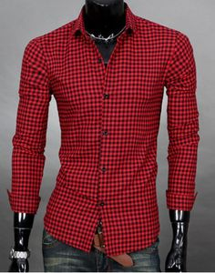 Simple Shirt Collar Color Block Plaid Print Long Sleeves Men's Slimming ShirtShirts | RoseGal.com ✏✏✏✏✏✏✏✏✏✏✏✏✏✏✏✏ IDEE CADEAU / CUTE GIFT IDEA  ☞ http://gabyfeeriefr.tumblr.com/archive ✏✏✏✏✏✏✏✏✏✏✏✏✏✏✏✏