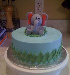 elephants, safari birthday, baby shower ideas, eleph cake, bake, birthdays, parti idea, baby showers, birthday cakes