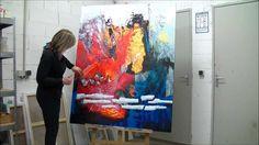 Démonstration de peinture abstraite par Jadis 5