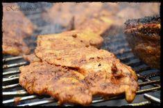 Koskacukor: Marokkói csirkemellgrill, paradicsomsalátával Food 52, Steak, Bacon, Bbq, Paleo, Pork, Food And Drink, Cooking Recipes, Chicken